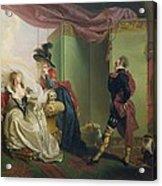 Malvolio Before Olivia - From 'twelfth Night'  Acrylic Print by Johann Heinrich Ramberg
