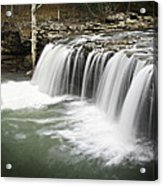0805-005b Falling Water Falls 2 Acrylic Print by Randy Forrester