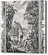 1731 Scheuchzer Creation Adam & Eve Acrylic Print by Paul D Stewart