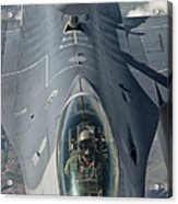 A U.s. Air Force F-16c Fighting Falcon Acrylic Print by Giovanni Colla