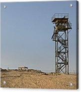 Abandoned Watchtower In The Desert Acrylic Print by Noam Armonn