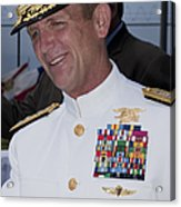 Admiral Eric T. Olson Speaks Acrylic Print by Michael Wood