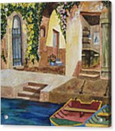 Afternoon At The Piazzo Acrylic Print by Kimberlee Weisker