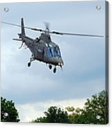 An Agusta A109 Helicopter Acrylic Print by Luc De Jaeger