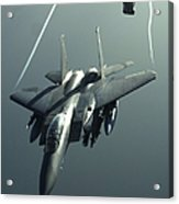An F-15e Strike Eagle Flies Over Iraq Acrylic Print by Stocktrek Images