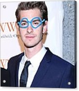 Andrew Garfield At Arrivals For The Acrylic Print by Everett