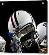 Arizona Football Helmets Acrylic Print by University of Arizona