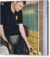 Asbestos Monitoring Acrylic Print by Paul Rapson