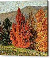 Autumn Landscape Acrylic Print by Henri-Edmond Cross