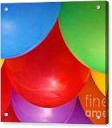 Balloons Background Acrylic Print by Carlos Caetano