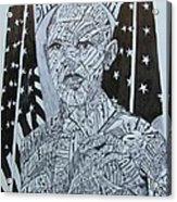 Barack Obama Acrylic Print by Lourents Oybur