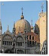 Basilica San Marco Acrylic Print by Bernard Jaubert