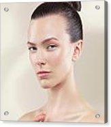 Beautiful Young Woman Portrait Acrylic Print by Oleksiy Maksymenko