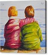 Best Friends Acrylic Print by Debra  Bannister