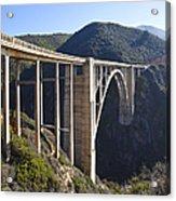 Bixby Bridge Crossing A Chasm Acrylic Print by David Buffington