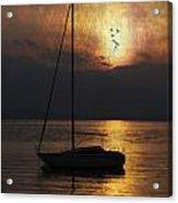 Boat In Sunset Acrylic Print by Joana Kruse