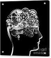 Brain Design By Cogs And Gears Acrylic Print by Setsiri Silapasuwanchai