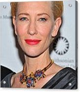 Cate Blanchett Wearing A Van Cleef & Acrylic Print by Everett