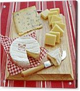 Cheese Selection Acrylic Print by David Munns