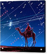Christmas Star As Planetary Conjunction Acrylic Print by Detlev Van Ravenswaay