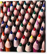 Colored Pencils Acrylic Print by Garry Gay