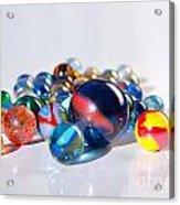 Colorful Marbles Acrylic Print by Carlos Caetano
