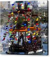 Colors Of Gasparilla Acrylic Print by David Lee Thompson