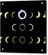 Composite Time-lapse Images Of Solar Eclipses Acrylic Print by Dr Fred Espenak