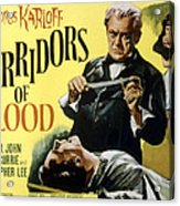 Corridors Of Blood, Boris Karloff, 1958 Acrylic Print by Everett