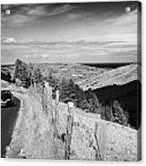 Country Mountain Road Through Glenaan Scenic Route Glenaan County Antrim Northern Ireland  Acrylic Print by Joe Fox