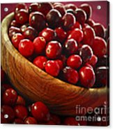 Cranberries In A Bowl Acrylic Print by Elena Elisseeva