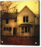 Creepy Abandoned House Acrylic Print by Jill Battaglia