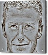 David Beckham In 2009 Acrylic Print by J McCombie
