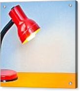 Desk Lamp Acrylic Print by Tom Gowanlock