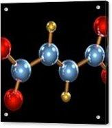 Dimethyl Fumarate Allergen Molecule Acrylic Print by Dr Mark J. Winter