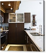 Efficiency Apartment Kitchen Acrylic Print by Ben Sandall