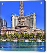 Eiffel Tower Las Vegas Acrylic Print by Nicholas  Grunas