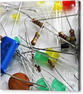 Electronic Components Acrylic Print by Photo Researchers, Inc.
