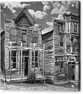 Elkhorn Ghost Town Public Halls - Montana Acrylic Print by Daniel Hagerman