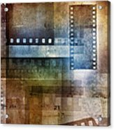 Film Negatives Acrylic Print by Les Cunliffe