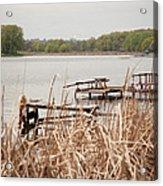 Fishing Acrylic Print by Sasha Gurkova