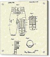 Football Pants 1917 Patent Art Acrylic Print by Prior Art Design