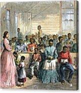Freedmens School, 1866 Acrylic Print by Granger