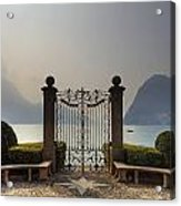 Gateway To The Lake Of Lugano Acrylic Print by Joana Kruse