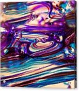 Glass Macro II Acrylic Print by David Patterson