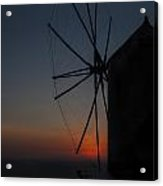 Greek Windmill Acrylic Print by Joana Kruse