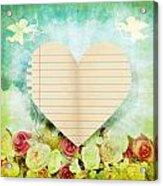 greeting card Valentine day Acrylic Print by Setsiri Silapasuwanchai