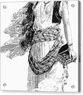 Harem Woman. 19th Century Acrylic Print by Granger
