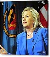 Hillary Clinton, Us Secretary Of State Acrylic Print by Everett