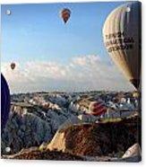 Hot Air Balloons Over Cappadocia Acrylic Print by RicardMN Photography